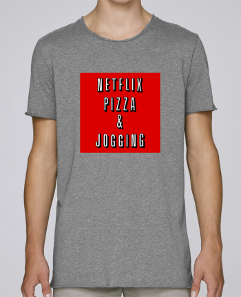 T-shirt Men Oversized Stanley Skates Netflix Pizza & Jogging by WBang