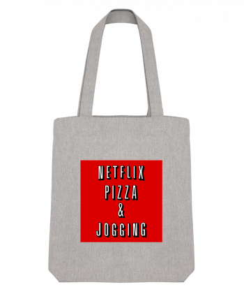 Tote Bag Stanley Stella Netflix Pizza & Jogging by WBang