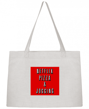 Shopping tote bag Stanley Stella Netflix Pizza & Jogging by WBang