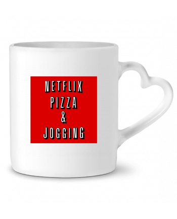 Mug Heart Netflix Pizza & Jogging by WBang