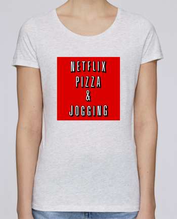 T-shirt Women Stella Loves Netflix Pizza & Jogging by WBang