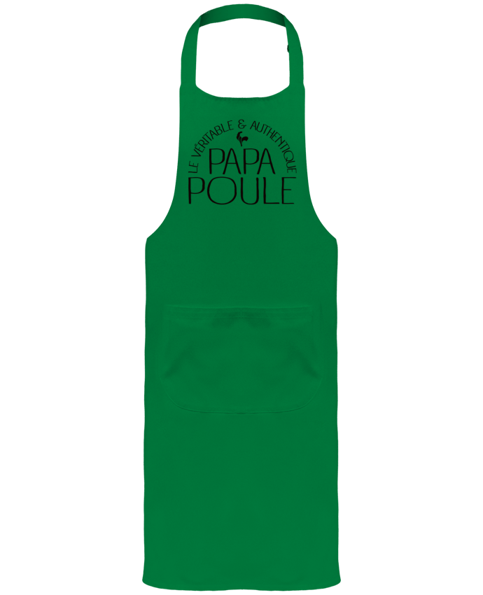 Garden or Sommelier Apron with Pocket Papa Poule by Freeyourshirt.com