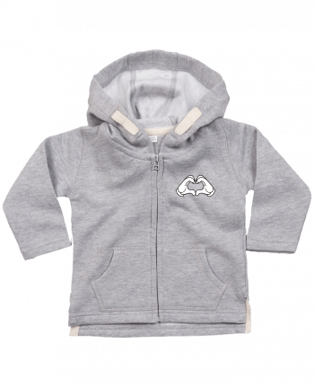 Hoddie with zip for baby LOVE Signe by Freeyourshirt.com