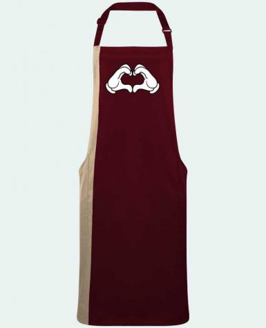 Two-tone long Apron LOVE Signe by  Freeyourshirt.com