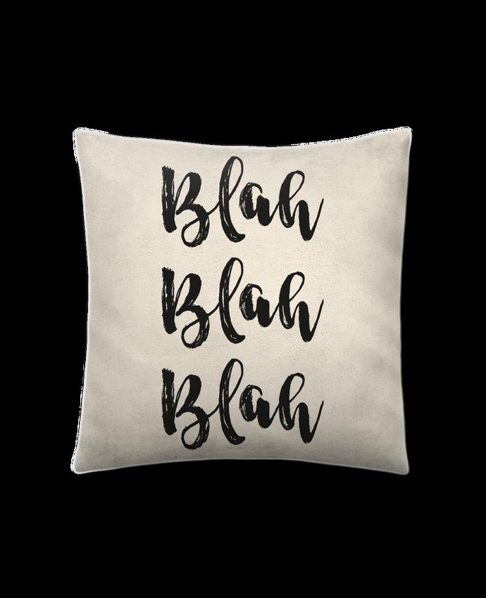 Cushion suede touch 45 x 45 cm Blah Blah Blah ! by tunetoo