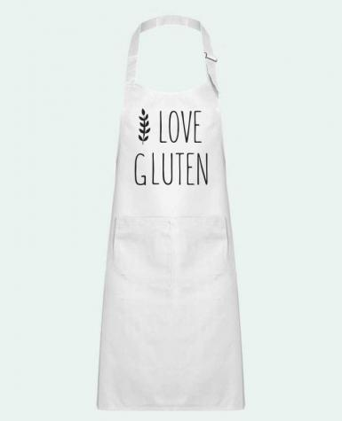 Kids chef pocket apron I love gluten by Ruuud by Ruuud