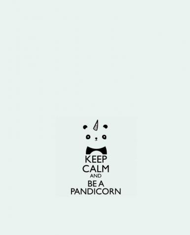 Tote Bag cotton keep calm and be a Pandicorn by tunetoo