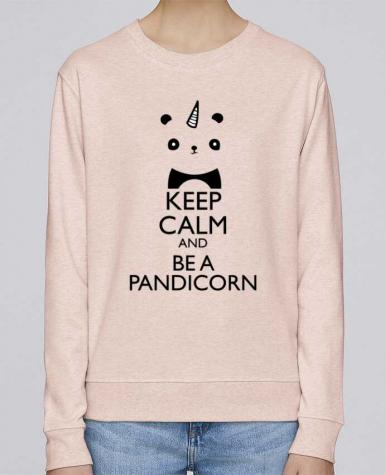 Sweatshirt Women crew neck Stella Hides keep calm and be a Pandicorn by tunetoo