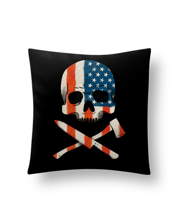 Cushion synthetic soft 45 x 45 cm AmericanPsycho by chriswharton