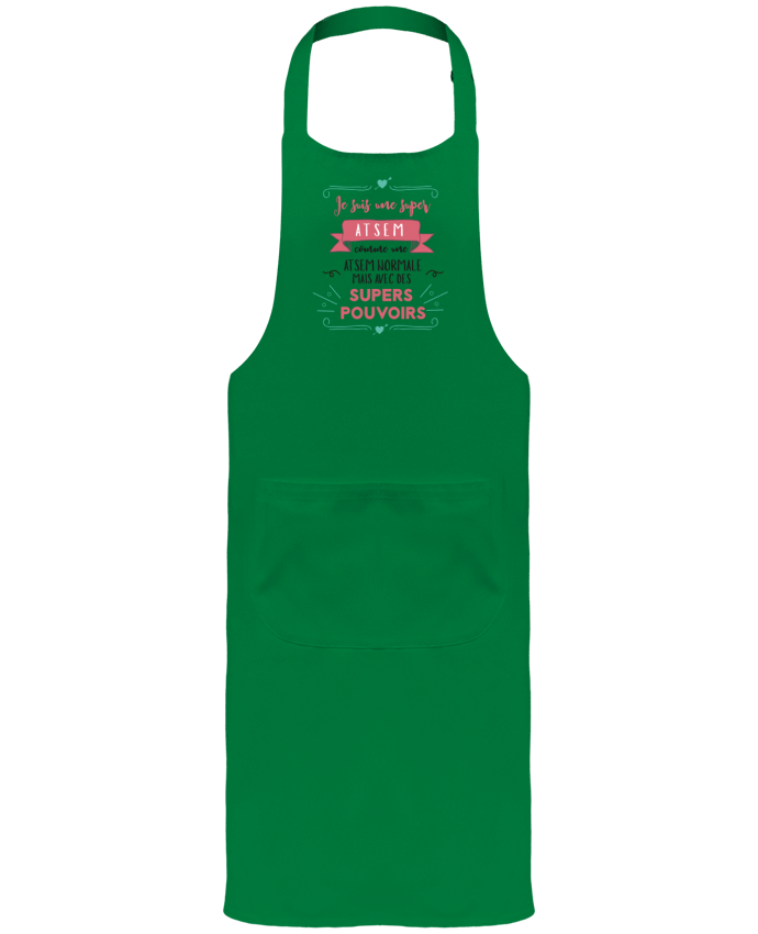 Garden or Sommelier Apron with Pocket Je suis une super ATSEM by tunetoo