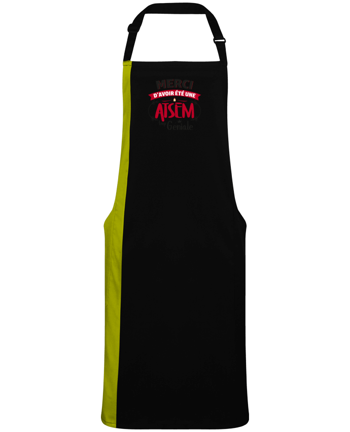 Two-tone long Apron Merci d