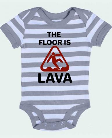 Baby Body striped The floor is lava - tunetoo