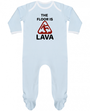 Baby Sleeper long sleeves Contrast The floor is lava by tunetoo