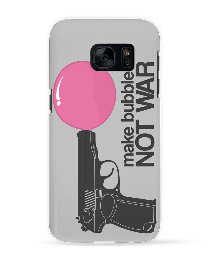 Case 3D Samsung Galaxy S7 Make bubbles NOT WAR by justsayin