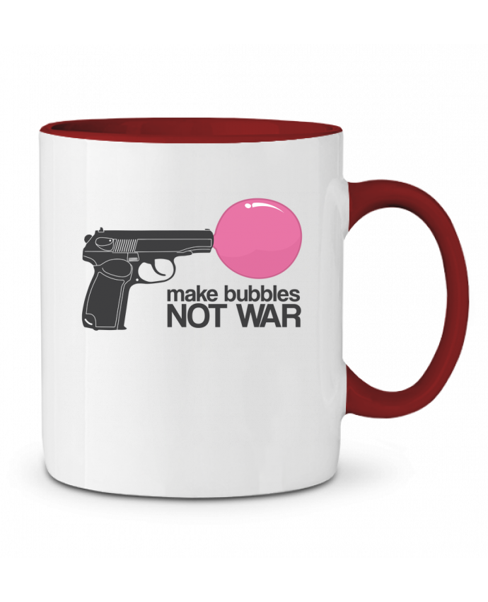 Two-tone Ceramic Mug Make bubbles NOT WAR justsayin