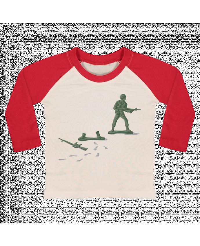 T-shirt baby Baseball long sleeve Deserter by flyingmouse365