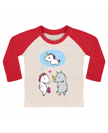 T-shirt baby Baseball long sleeve Perfect match by flyingmouse365