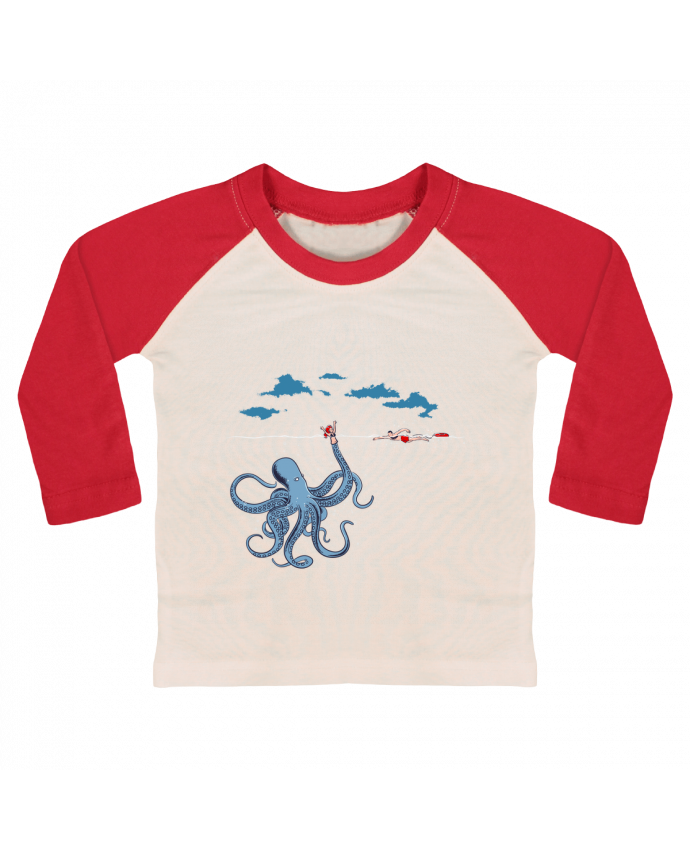 T-shirt baby Baseball long sleeve Octo Trap by flyingmouse365