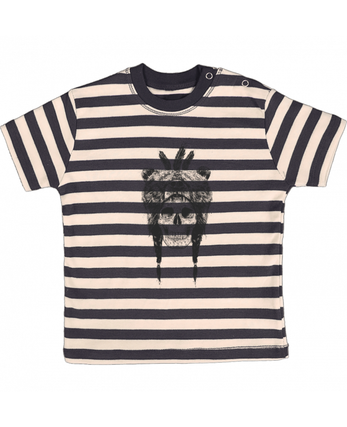 T-shirt baby with stripes Dead Shaman by Balàzs Solti