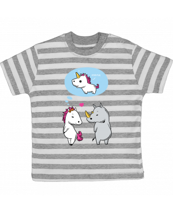 T-shirt baby with stripes Perfect match by flyingmouse365
