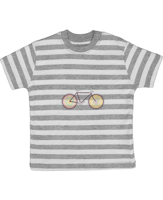 T-shirt baby with stripes Velocolor by Florent Bodart