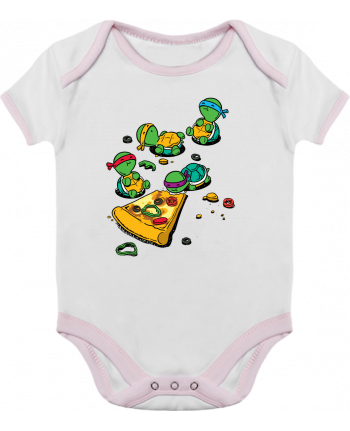 Baby Body Contrast Pizza lover by flyingmouse365