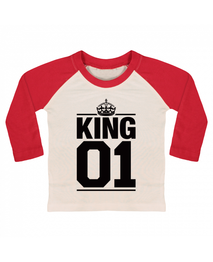 T-shirt baby Baseball long sleeve King 01 by Freeyourshirt.com