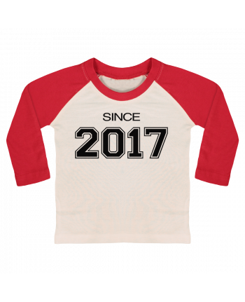 T-shirt baby Baseball long sleeve Since 2017 by justsayin