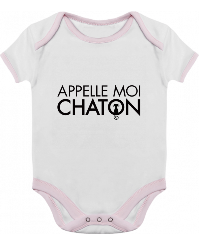 Baby Body Contrast Appelle moi Chaton by Freeyourshirt.com
