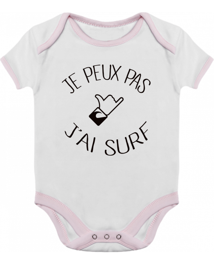Baby Body Contrast Je peux pas j'ai surf by Freeyourshirt.com