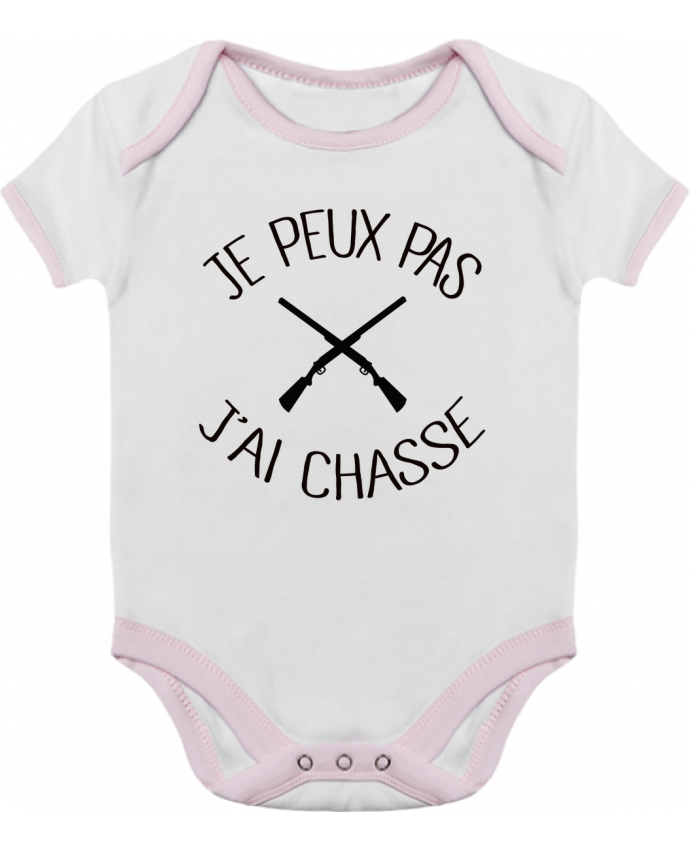 Baby Body Contrast Je peux pas j'ai chasse by Freeyourshirt.com