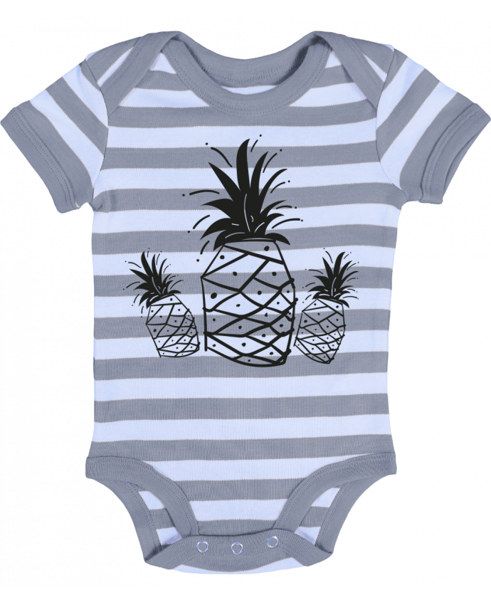 Baby Body striped CRAZY PINEAPPLE - IDÉ