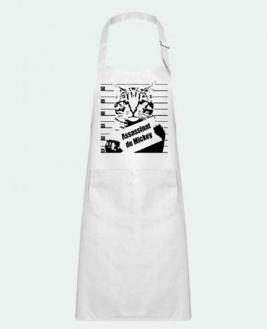 Kids chef pocket apron Chat wanted by Graff4Art