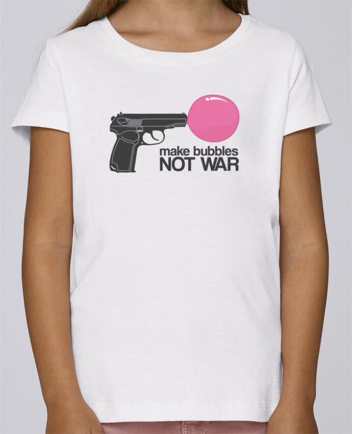 T-shirt Women Stella Draws Make bubbles NOT WAR by justsayin