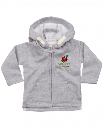 Hoddie with zip for baby Poireause by Oan