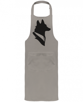 Garden or Sommelier Apron with Pocket Mr Fox by Florent Bodart