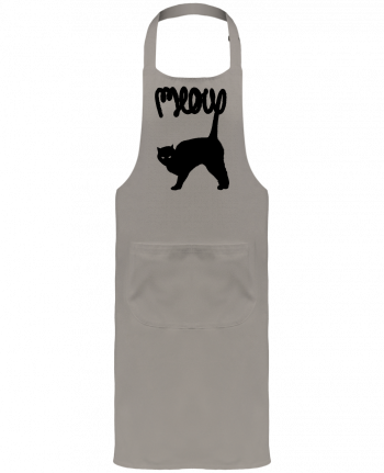 Garden or Sommelier Apron with Pocket Meow by Florent Bodart