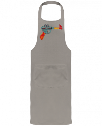 Garden or Sommelier Apron with Pocket Gun Toy by Florent Bodart