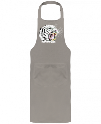 Garden or Sommelier Apron with Pocket Tigre blanc rugissant by Cameleon