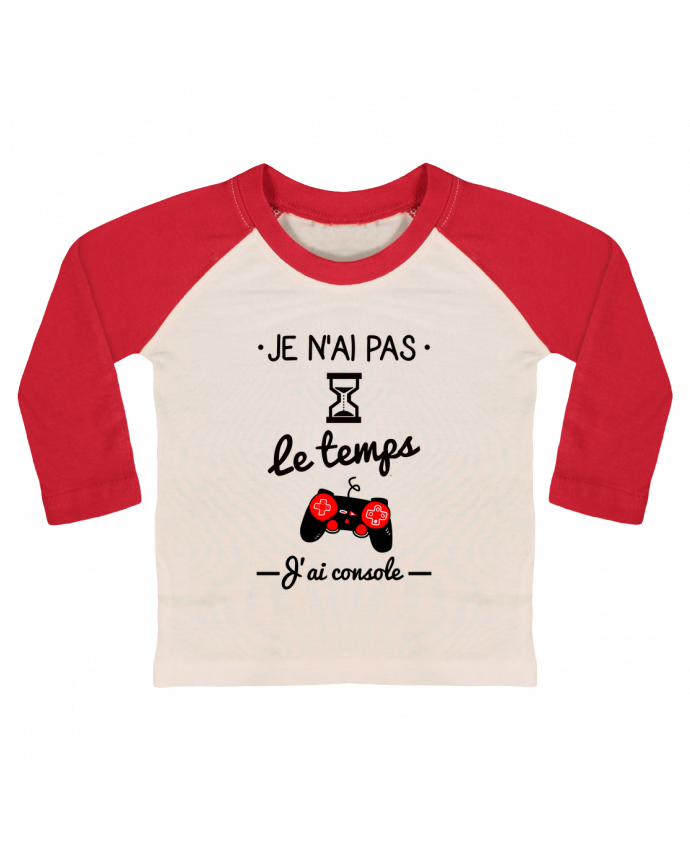 T-shirt baby Baseball long sleeve Pas le temps, j