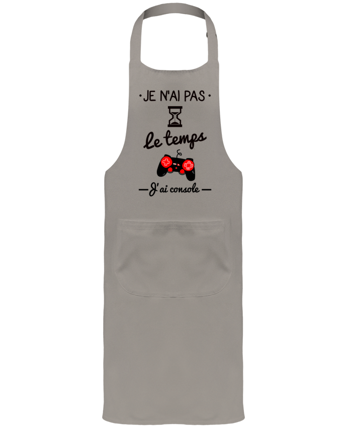 Garden or Sommelier Apron with Pocket Pas le temps, j