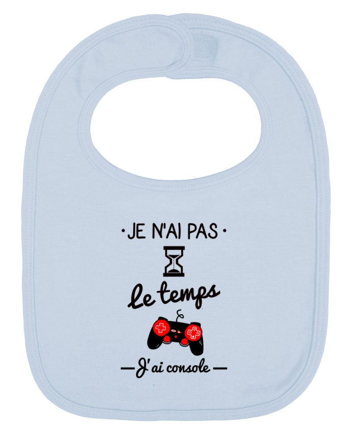 Baby Bib plain and contrast Pas le temps, j