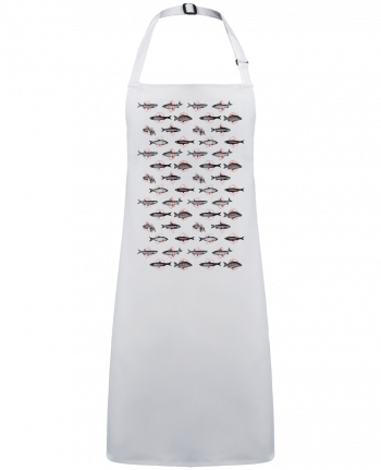 Apron no Pocket Fishes in geometrics by  Florent Bodart