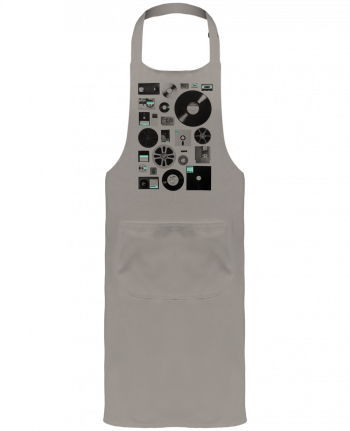 Garden or Sommelier Apron with Pocket Data by Florent Bodart