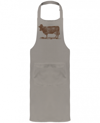 Garden or Sommelier Apron with Pocket Cow Cow Nut by Florent Bodart