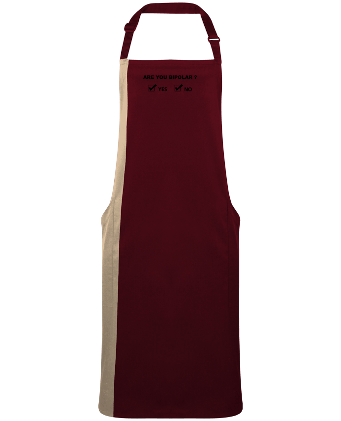 Two-tone long Apron Are you bipolar by  justsayin