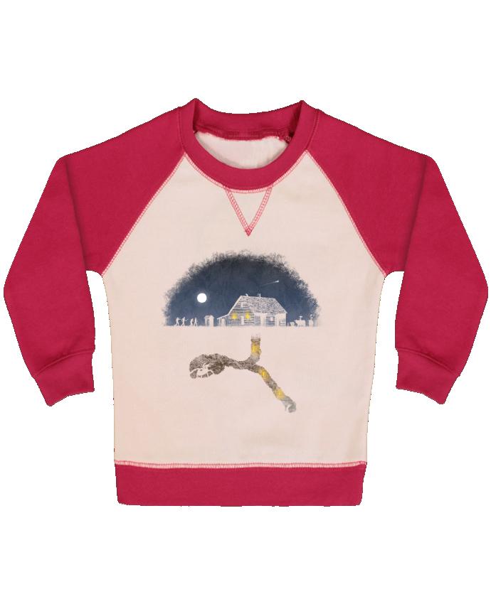 Sweatshirt Baby crew-neck sleeves contrast raglan Always Digging by Florent Bodart