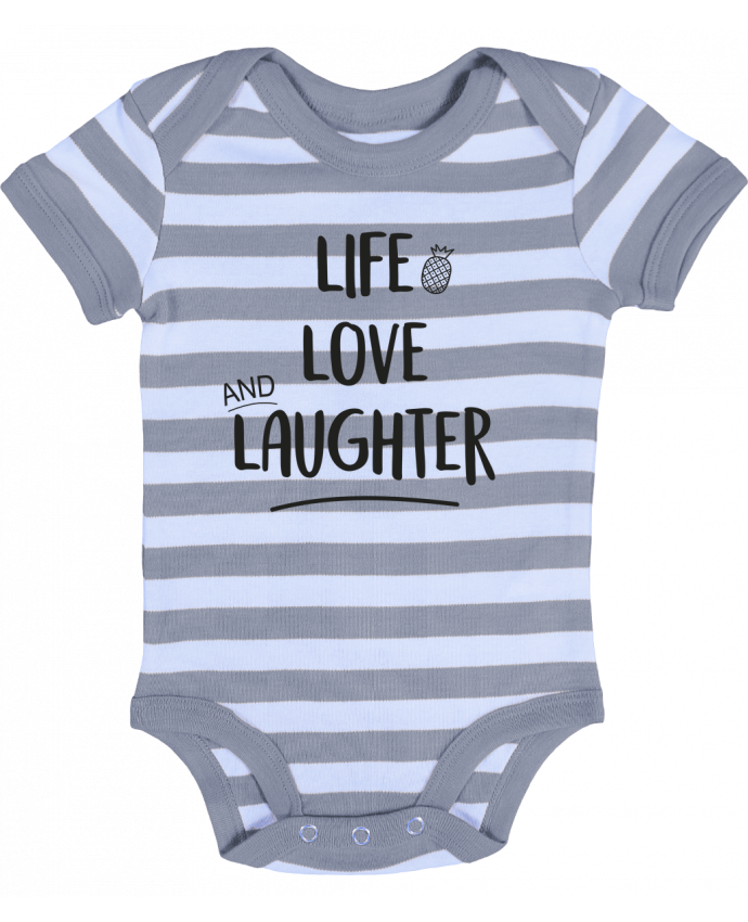 Baby Body striped Life, love and laughter... - IDÉ'IN