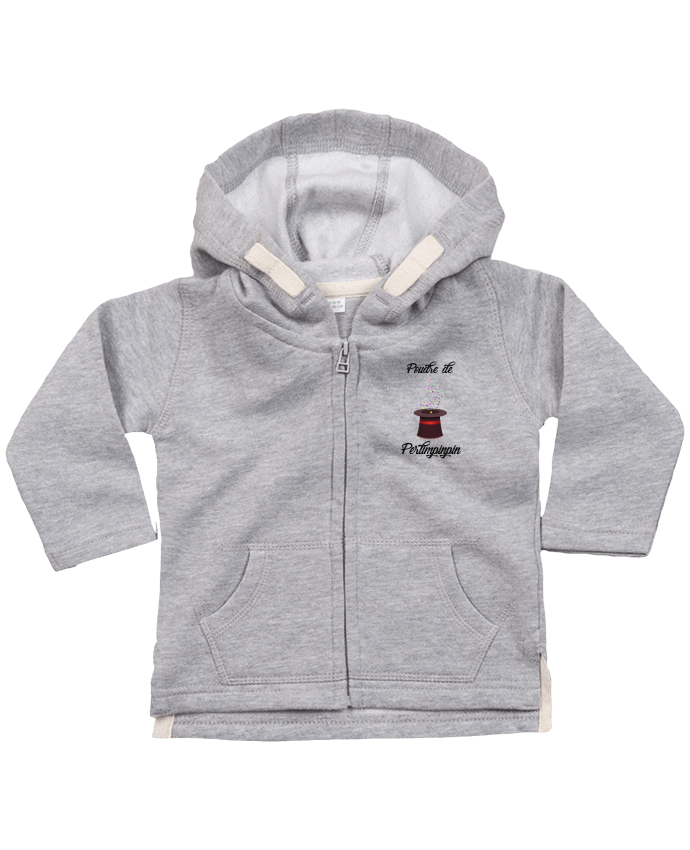 Hoddie with zip for baby Poudre de Perlimpinpin VS Merlin by tunetoo