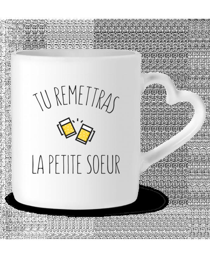 Mug Heart Tu me remettras la petite soeur by tunetoo